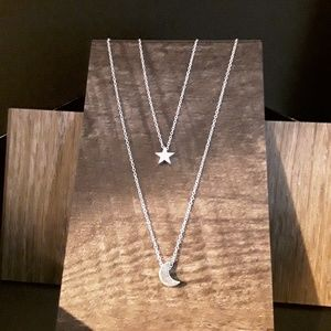 Jewelry - NEW Crescent Moon and Star Necklace